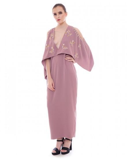 Felix Maxi Dress in Matte Pink