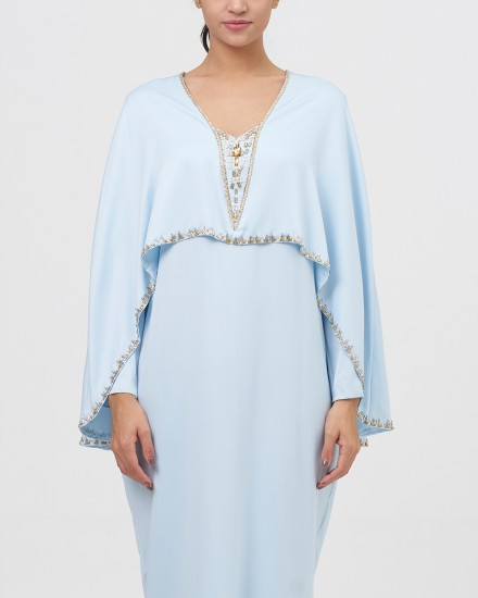Northelyn Maxi Dress in Pastel Blue