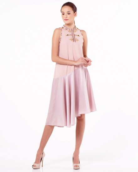 Lien Dress in Light Dusty Pink