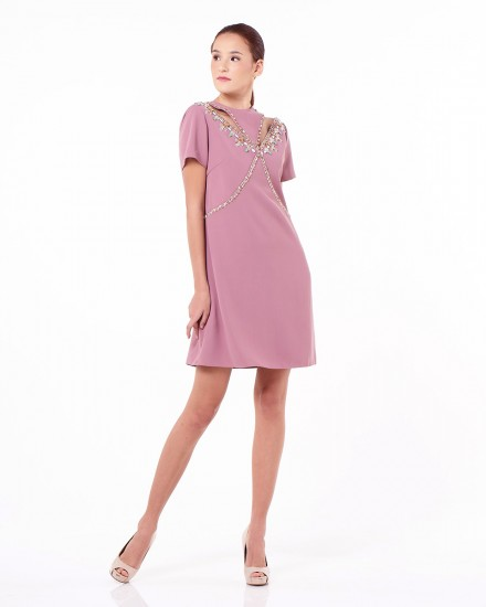 Niu Dress In Light Chateau Rose