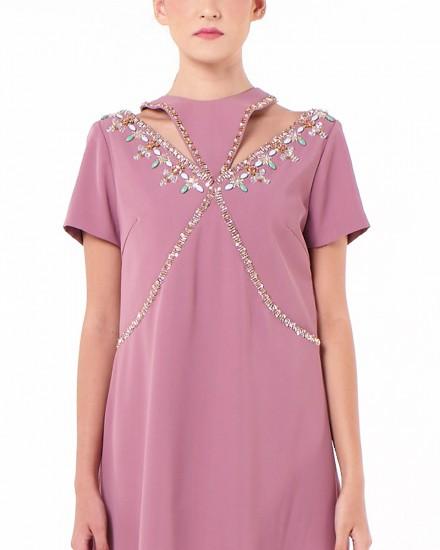 Niu Dress In Light Chateau Rose