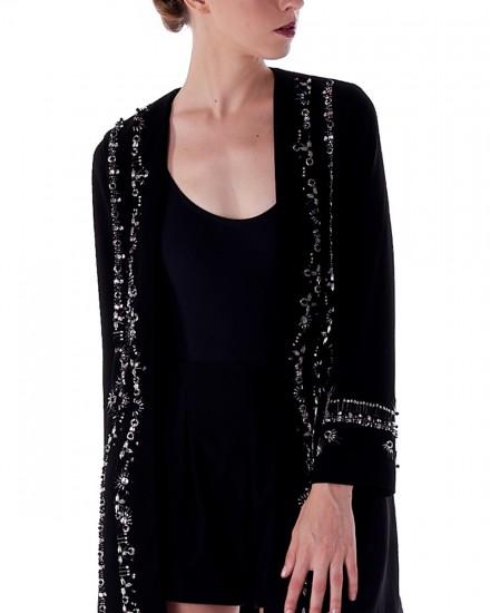 N5 Embellished Blazer in Black