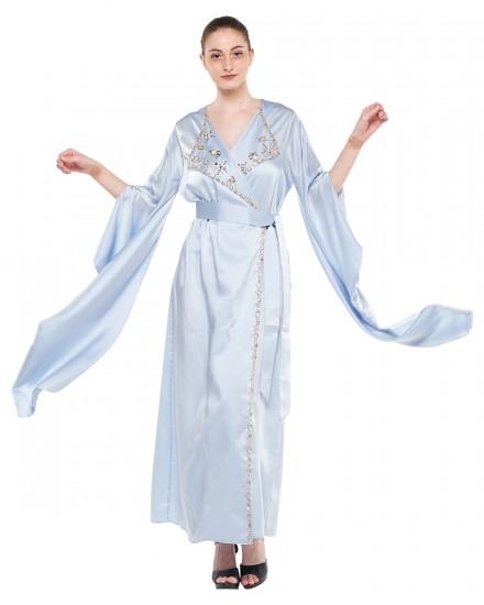 Avni Kimono Origami Kaftan in Airy Blue