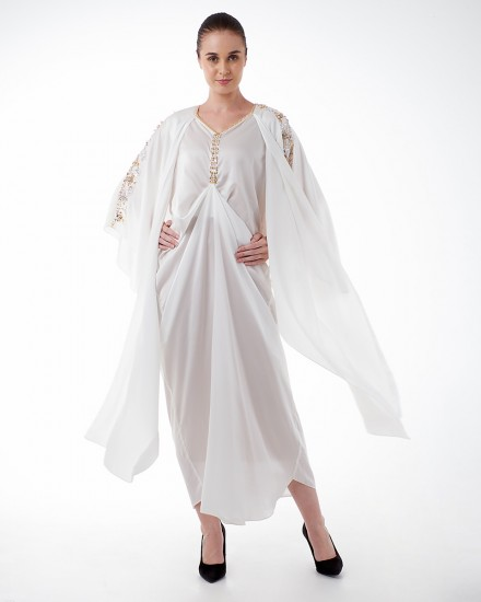 Evren Three-way Wrap Kaftan in Purity White