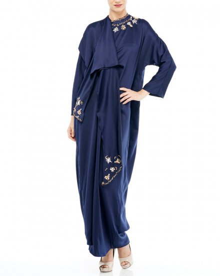 Nevin Scarf Kaftan in Midnight Blue