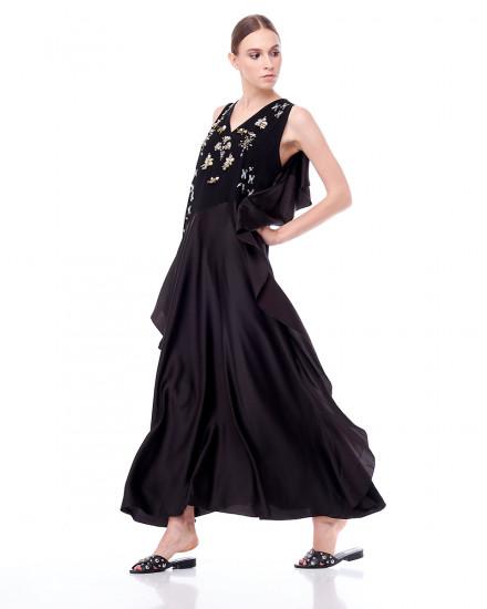 Angela Maxi Dress in Black
