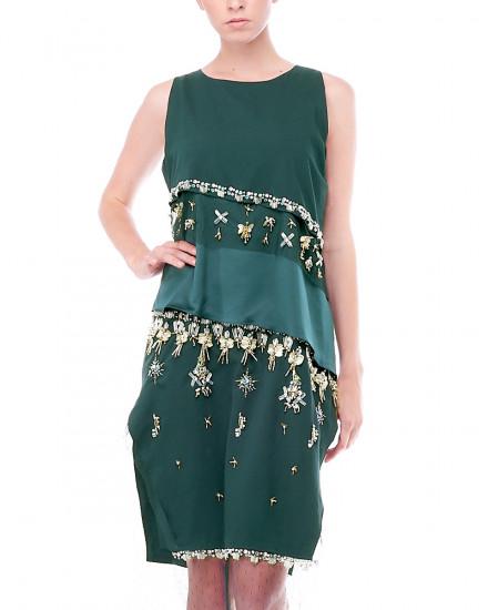Neve Slit Dress in Green