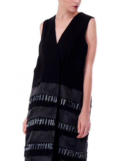 N4 Vest Dress in Black