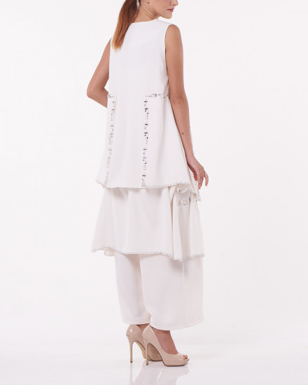 N2 Detachable Dress-Top in White