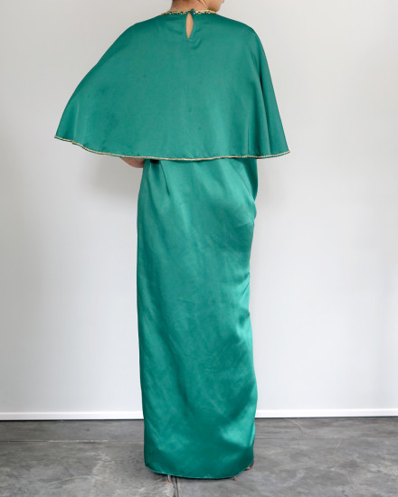 Philo Cape Signature Front Knot in Emerald Green