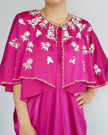 Philo Cape Signature Front Knot in Fuchsia