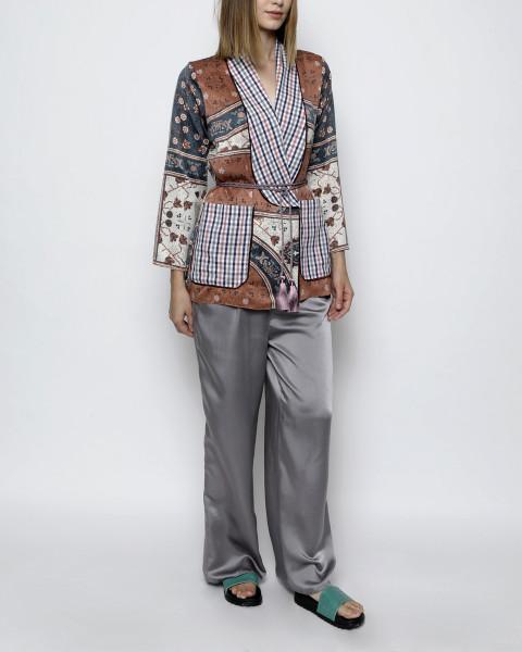 Pax Single Breasted Classic Pattern Homewear Set