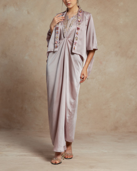Cassia Signature Embellished One Piece in Petal Pink